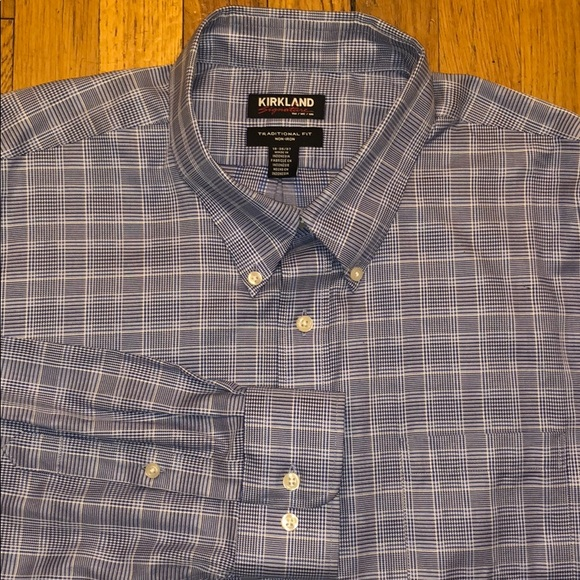 Kirkland Signature Men/'s Traditional Fit Long Sleeve Dress Shirts PRE-OWNED